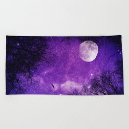 Nightscape in Ultra Violet Beach Towel