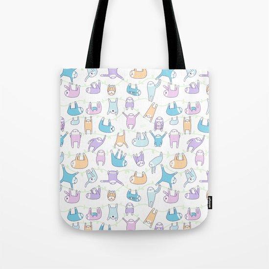 Lazy Sloths Doodle - Pastel and Kawaii Tote Bag