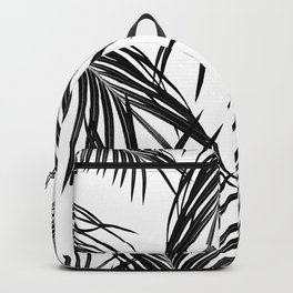 Black Palm Leaves Dream #1 #tropical #decor #art #society6 Backpack