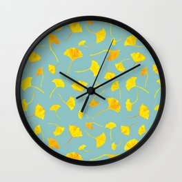 Ginkgo Collection Wall Clock
