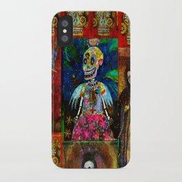 Goth Skeleton Angel Girl  iPhone Case