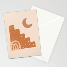 Abstract Shape Boho Earth Tones  Stationery Cards