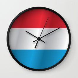 Flag of Luxembourg Wall Clock