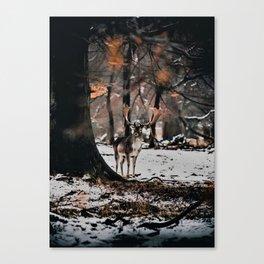 Cool jungle Deer Canvas Print