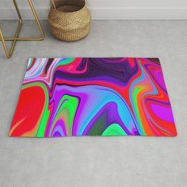 Colorful Light Liquid Marble Swirling Pattern Texture Artwork #6 Rug