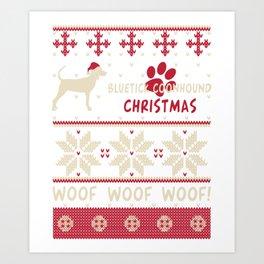 Bluetick Coonhound christmas gift t-shirt for dog lovers Art Print