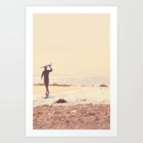 A Visceral Need. Surfer photograph Art Print