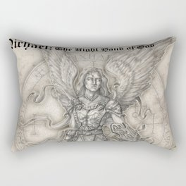 Michael: The Right Hand of God Rectangular Pillow