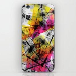 Discourse on Damage - Futuristic Geometric Abstract Art iPhone Skin