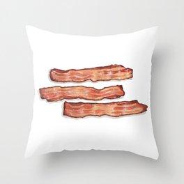 Breakfast & Brunch: Bacon Throw Pillow