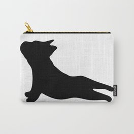 French Bulldog. Puppy Silhouette. Yoga Puppy Carry-All Pouch