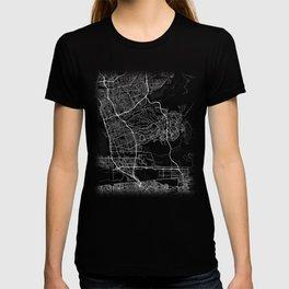 Minimal Chula Vista California City Map Tee T-shirt