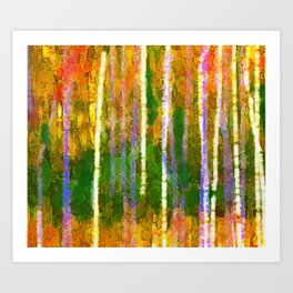 Colorful Forest Abstract | Triptych Part 2 Art Print