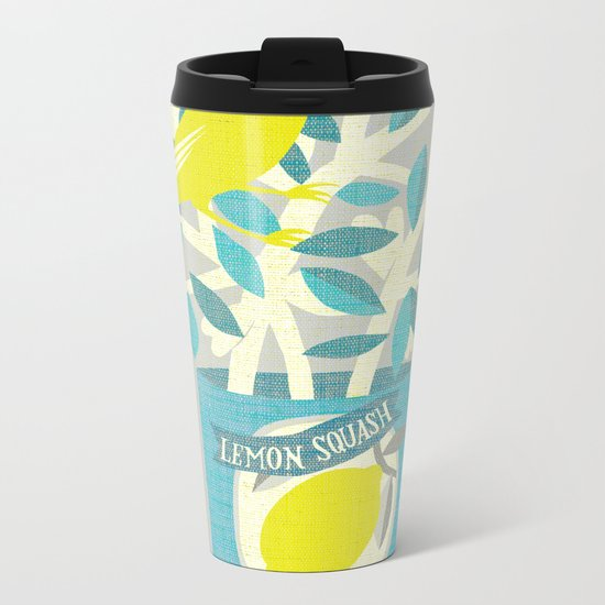 lemon squash Metal Travel Mug