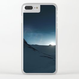 Dark Hike Clear iPhone Case