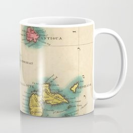 Vintage Map of The Leeward Islands (1822) Coffee Mug