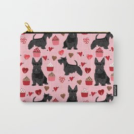 Scottie scottish terrier valentines day dog love pet portrait cute puppy dog valentine Carry-All Pouch