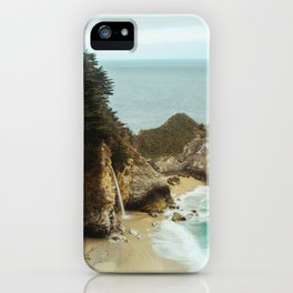 McWay Falls | Big Sur California Waterfall Ocean Coastal Travel Photography iPhone Case