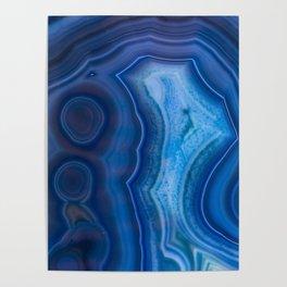 Deep Blue Lagoon Agate Poster