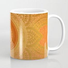 """Savanna Orange-Gold Mandala"" Coffee Mug"