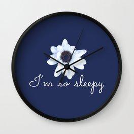 Sleepy African Daisy Flower Wall Clock
