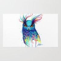 aurora Area & Throw Rugs featuring -Aurora- by PeeGeeArts