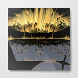 Against an asteroid attack Metal Print