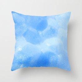 Blue Foam Plastic Texture Throw Pillow