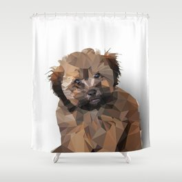 Cocoa, the puppy Shower Curtain