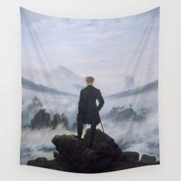 Wanderer Above the Sea of Fog Wall Tapestry