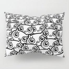 Crazy Cat Lady Dreams (in b/w) Pillow Sham