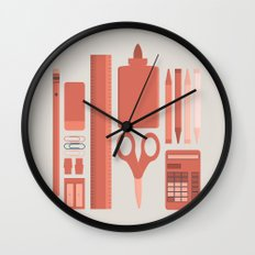 School House Monotone Wall Clock