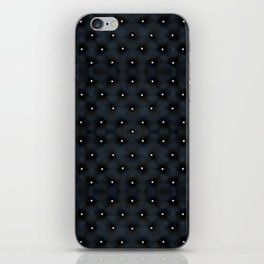 Black Velvet and Diamond Quilted Pattern iPhone Skin