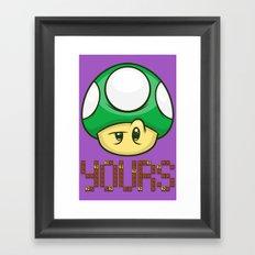 1 Up Yours Framed Art Print
