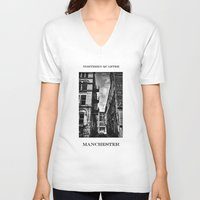 manchester V-neck T-shirts featuring  Northern Quarter MANchester by inkedsandra