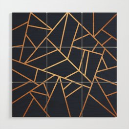 Copper and Midnight Navy Wood Wall Art