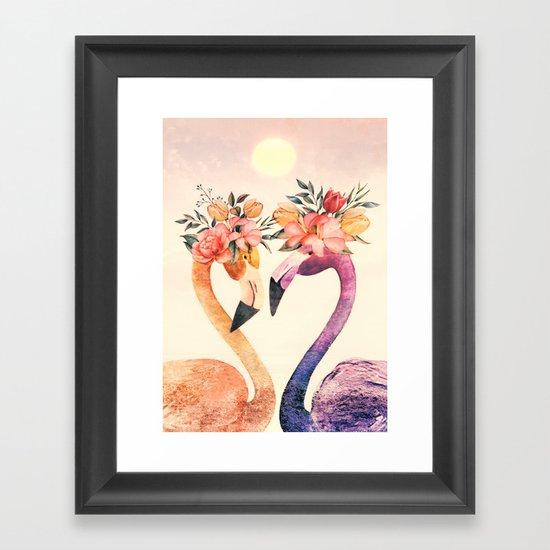 Flamingos II Framed Art Print
