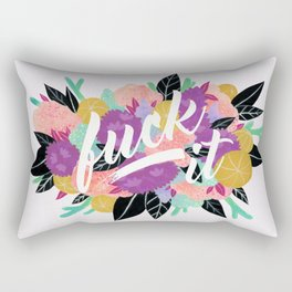 Fuck It Floral - Purple Rectangular Pillow