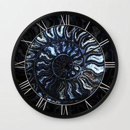Blue Ammonite Wall Clock