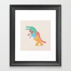 REX's Back Framed Art Print