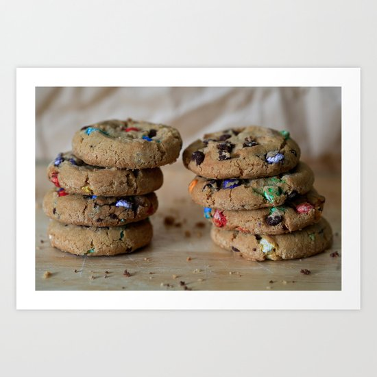 A Balanced Diet Is a Cookie In Each Hand Art Print