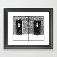 Double Doors Framed Art Print
