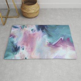 Abstract Art- Watercolor Art- Fractal Art- Blue Art- Ocean- Water- Marann Rug