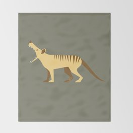 EXTINCT: Thylacine (Tasmanian Tiger) Throw Blanket