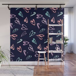 Colorful hearts Wall Mural