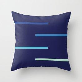 Abstract Minimal Retro Stripes Surf Throw Pillow