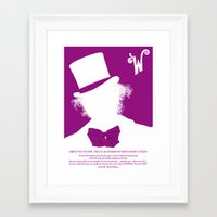 willy wonka Framed Art Prints featuring Willy Wonka Tribute Poster by stefano manca