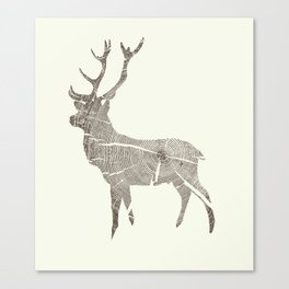 Wood Grain Stag Canvas Print