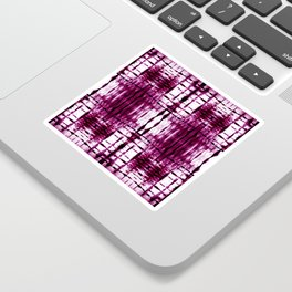 Black Cherry Plaid Shibori Sticker