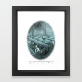 Behind You 51 Framed Art Print